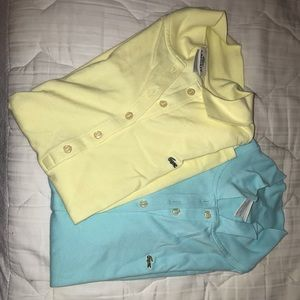 Lacoste polo shirts (both for 50 each one for 30)